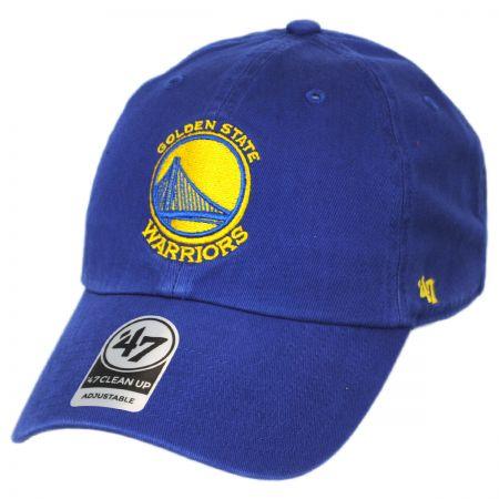47 Brand Golden State Warriors NBA Clean Up Strapback Baseball Cap Dad Hat