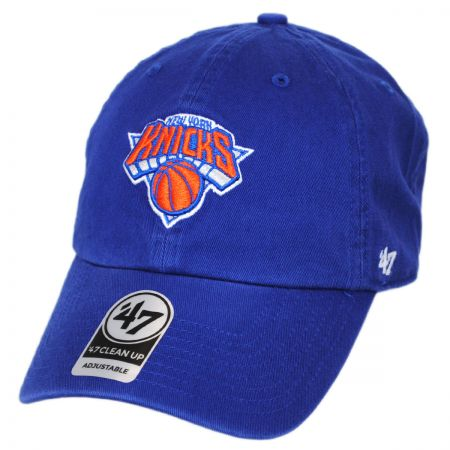 47 Brand New York Knicks NBA Clean Up Strapback Baseball Cap Dad Hat