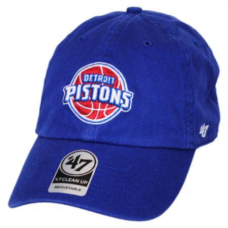47 Brand Detroit Pistons NBA Clean Up Strapback Baseball Cap