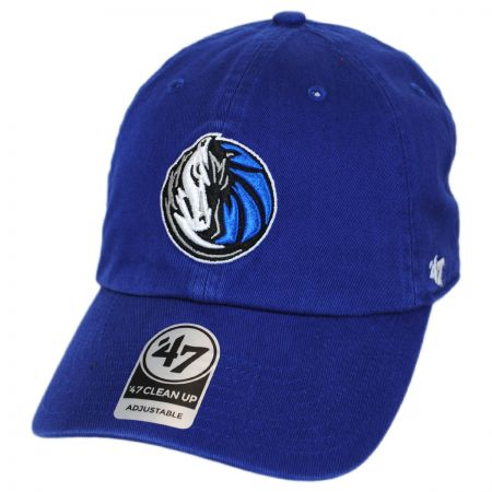47 Brand Dallas Mavericks NBA Clean Up Strapback Baseball Cap
