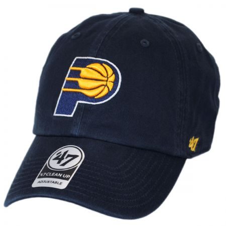 47 Brand Indiana Pacers NBA Clean Up Strapback Baseball Cap Dad Hat