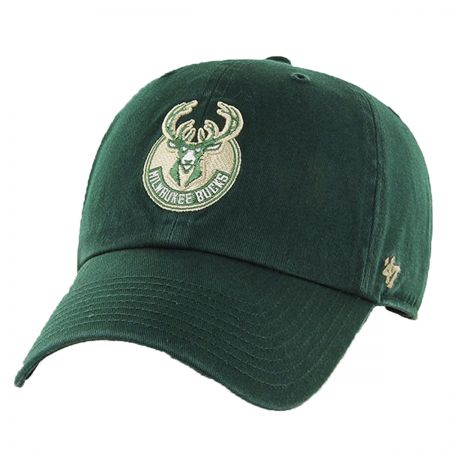 47 Brand Milwaukee Bucks NBA Clean Up Strapback Baseball Cap