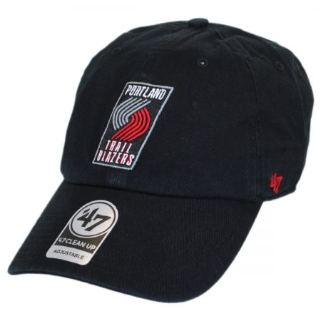 47 Brand Portland Trail Blazers NBA Clean Up Strapback Baseball Cap