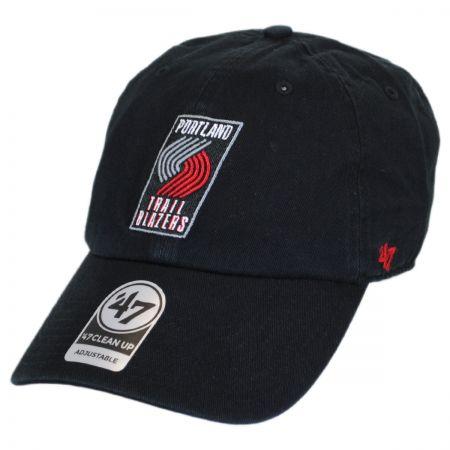 47 Brand Portland Trailblazers NBA Clean Up Strapback Baseball Cap