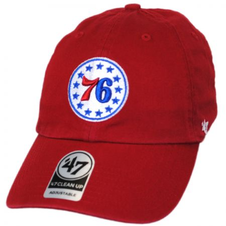 47 Brand Philadelphia 76ers NBA Clean Up Strapback Baseball Cap