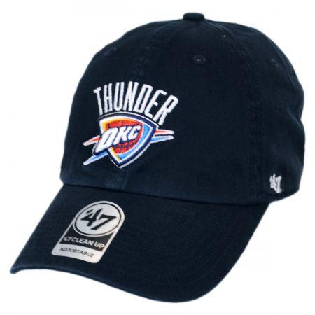 Oklahoma City Thunder NBA Clean Up Strapback Baseball Cap Dad Hat alternate view 2