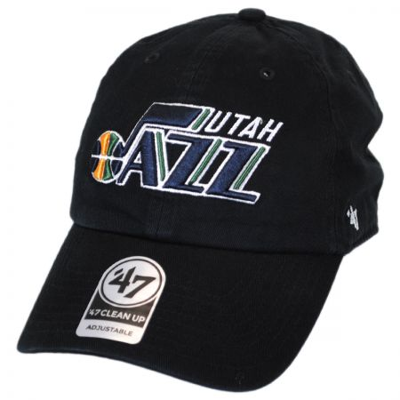 47 Brand Utah Jazz NBA Clean Up Strapback Baseball Cap