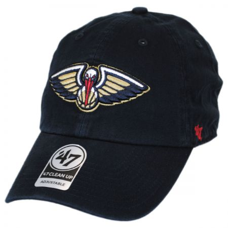 New Orleans Pelicans NBA Clean Up Strapback Baseball Cap Dad Hat alternate view 1