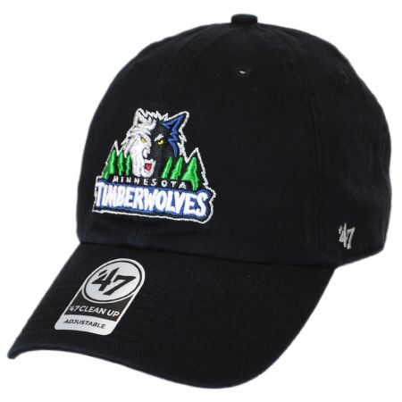 47 Brand Minnesota Timberwolves NBA Clean Up Strapback Baseball Cap