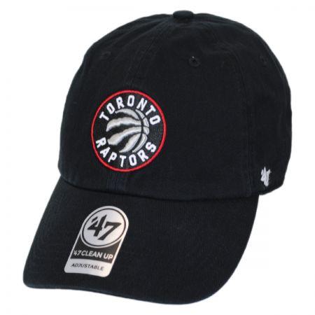 Toronto Raptors NBA Clean Up Strapback Baseball Cap Dad Hat alternate view 1