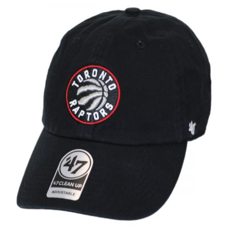 47 Brand Toronto Raptors NBA Clean Up Strapback Baseball Cap