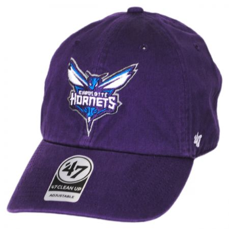 47 Brand Charlotte Hornets NBA Clean Up Strapback Baseball Cap