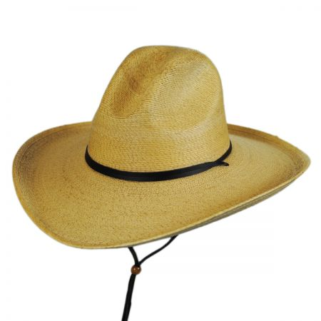 Stetson Bryce Palm Leaf Straw Wide Brim Gus Hat