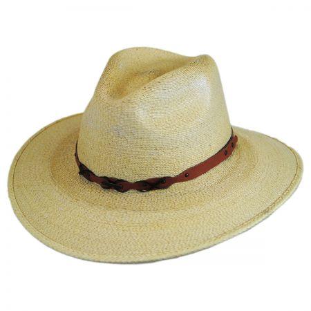 Banyon Palm Leaf Straw Safari Fedora Hat alternate view 1