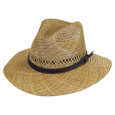 Stetson Childress Vent Seagrass Straw Safari Fedora Hat