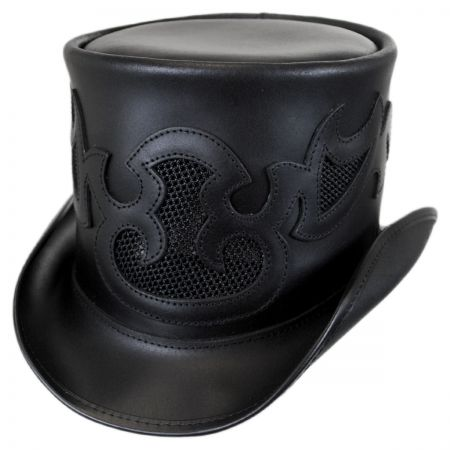 Head 'N Home Pinster Vented Leather Top Hat