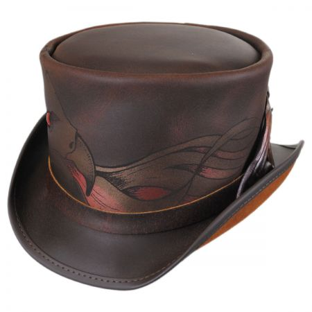 Head 'N Home Phoenix Leather Top Hat