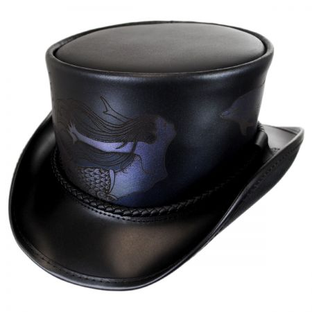 Head 'N Home Atlantis Leather Top Hat