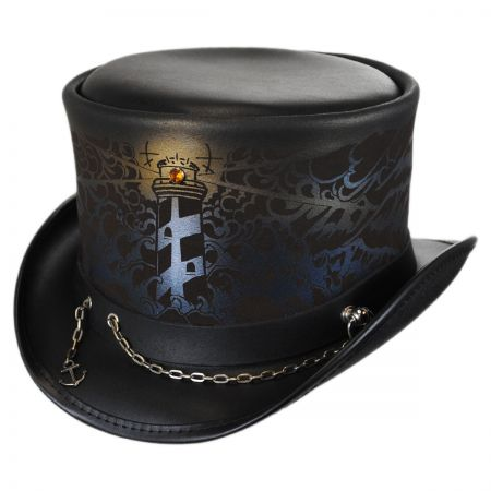 Shipwrecked Leather Top Hat alternate view 1