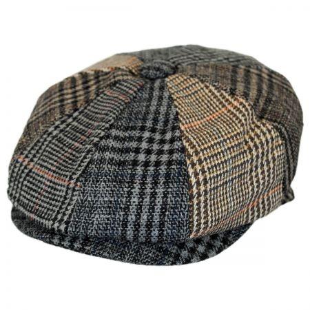 B2B Baby Plaid Patchwork Wool Blend Newsboy Cap