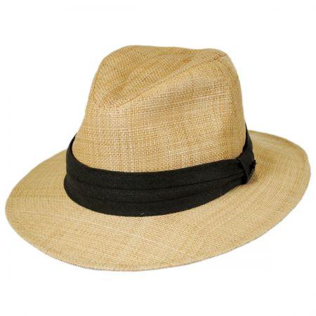 Tommy Bahama Raffia Straw Safari Fedora Hat