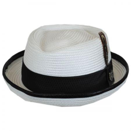Croc Trim Diamond Crown Fedora Hat alternate view 1