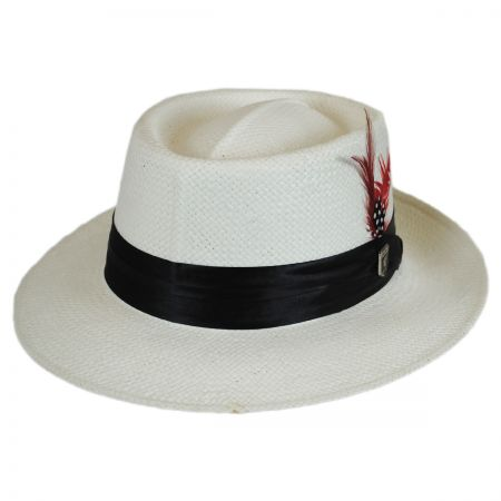 Stacy Adams Optimo Toyo Straw Gambler Hat