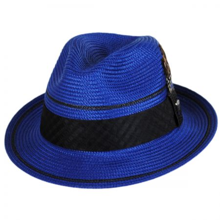 Stacy Adams Two Stripe Stingy Brim Fedora Hat