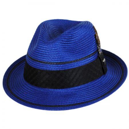 Stacy Adams Two Stripe Stingy Brim Fedora Hat