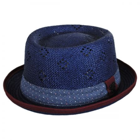 Stacy Adams Vent Crown Toyo Straw Pork Pie Hat