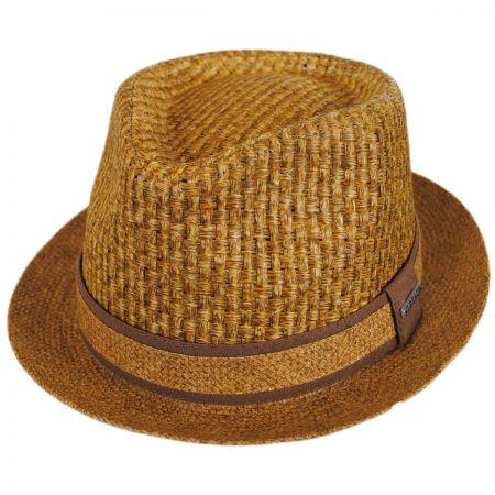 Stetson Textured Toyo Straw Trilby Fedora Hat
