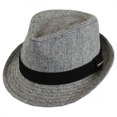 Stetson Linen and Cotton Trilby Fedora Hat