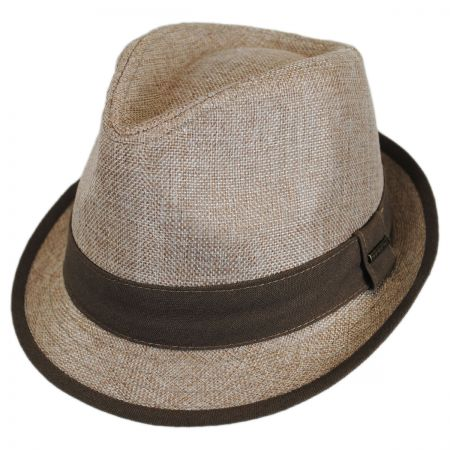 Stetson Two-Tone Linen Trilby Fedora Hat