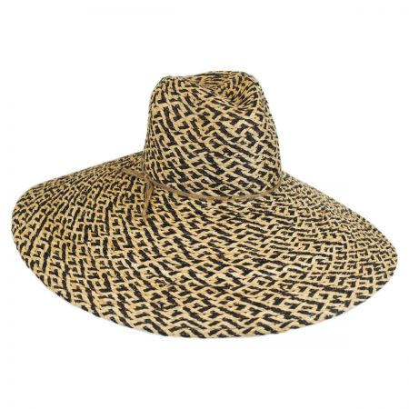 Brooklyn Hat Co Belize Raffia Straw Wide Brim Fedora Hat