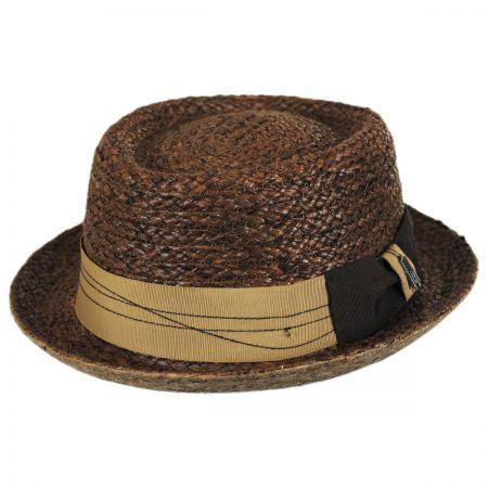 Brooklyn Hat Co Samba Raffia Straw Pork Pie Hat
