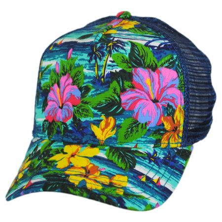 Brooklyn Hat Co Azul Floral Trucker Snapback Baseball Cap