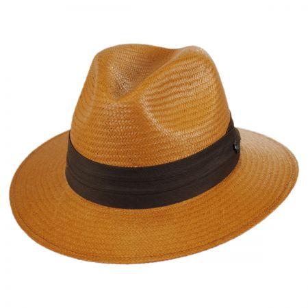 Jaxon Hats Augusta Toyo Straw Safari Fedora Hat