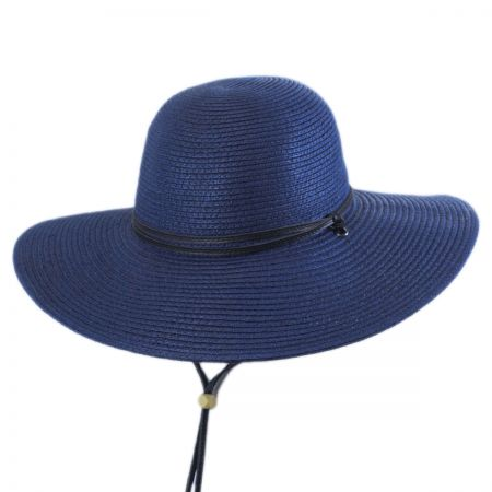 Packable Navy Blue Sun Hats at Village Hat Shop e12e9cf8b6a