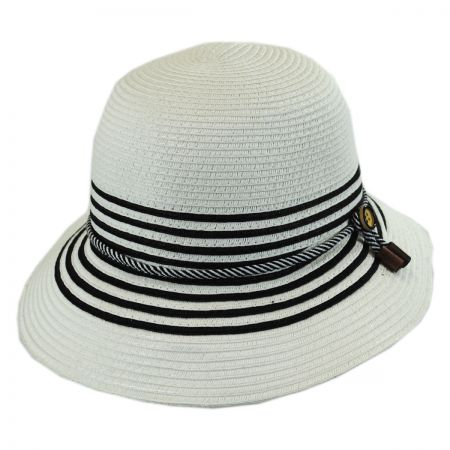Callanan Hats Rope Band Toyo Straw Cloche Hat