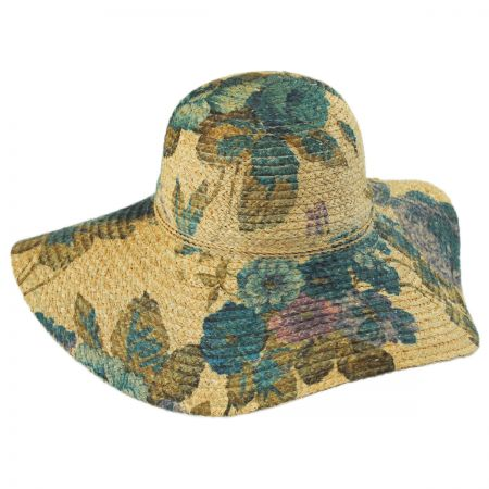 Callanan Hats Floral Raffia Straw Swinger Hat