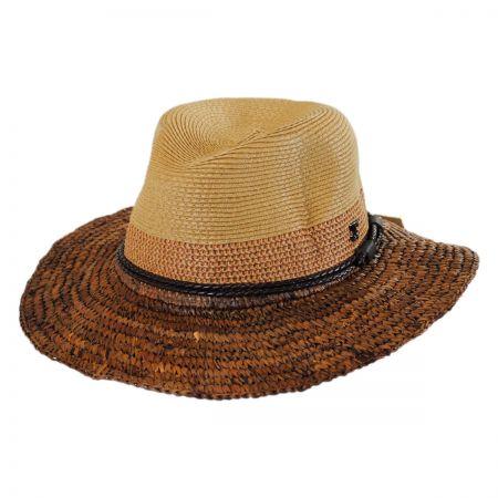 Callanan Hats Mixed Toyo and Raffia Straw Fedora Hat