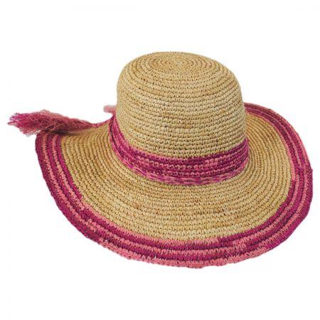 Tassels Raffia Straw Swinger Hat alternate view 1