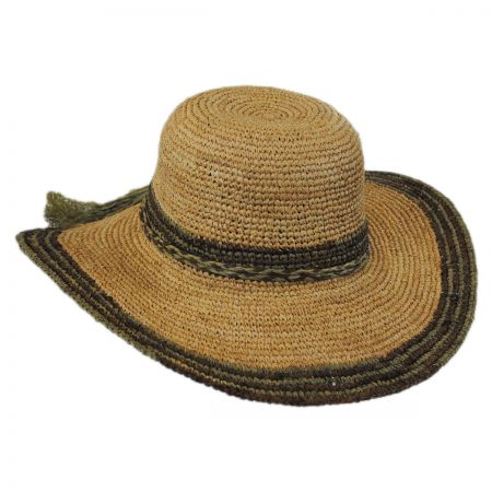 Callanan Hats Tassels Raffia Straw Swinger Hat