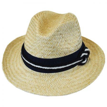 Nautical Palm Straw Fedora Hat alternate view 1