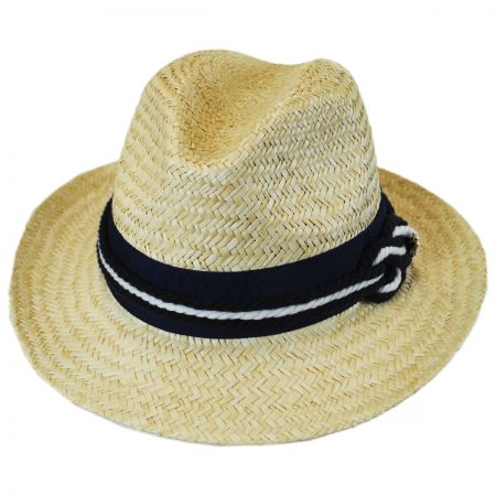 Callanan Hats Nautical Palm Straw Fedora Hat
