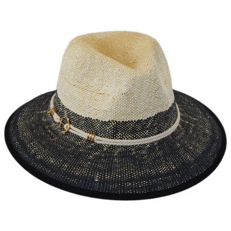 Callanan Hats Anchor Color Block Toyo Straw Fedora Hat