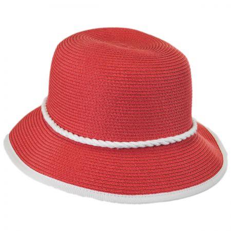 Callanan Hats Rope Trim Toyo Straw Blend Cloche Hat