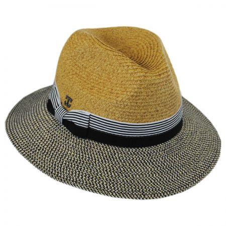 Callanan Hats Metallic Tweed Brim Fedora Hat
