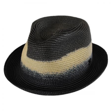 Callanan Hats Dip Dyed Toyo Straw Trilby Fedora Hat
