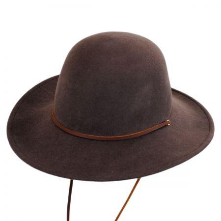 Tiller Packable Wool Felt Wide Brim Hat